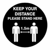 Keep your distance floor sticker