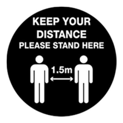 Keep your distance floor sticker