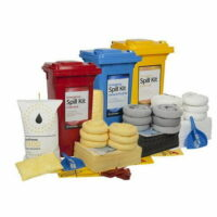120L Standard Spill Kit in Wheelie Bin