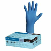 Blue Heavy Duty Nitrile Long Cuff Powder Free Gloves