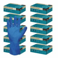 Nitrile Diamond Grip Long Cuff Powder Free Gloves CTN/500