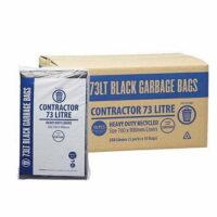 73L Contractor Black Bin Liners
