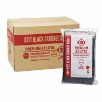 82L Premium Black Bin Liners Extra Strong (40um) CTN/200
