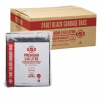 240L Premium Black Wheelie Bin Liners Extra Strong