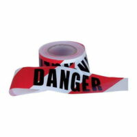 Barrier Tape Red and White Danger 75mmx100m