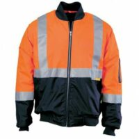Hi-Vis Two Tone Flying Jacket with Day/Night Tape - Orange