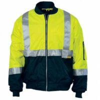 Hi-Vis Two Tone Flying Jacket with Day/Night Tape - Yellow