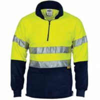 Hi-Vis1/2 Zip Polar Fleece with Day/Night Tape - Yellow