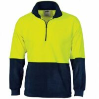 Hi-Vis Two Tone 1/2 Zip Polar Fleece - Yellow