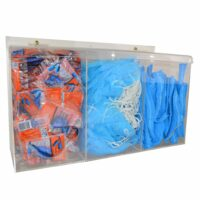 Triple PPE Dispenser Clear Perspex