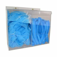 Double PPE Dispenser Clear Perspex