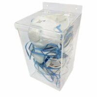 Single PPE Dispenser Clear Perspex