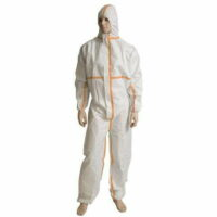 White Microporous Waterproof Coveralls Type 4/5/6