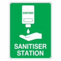 COVID-19 Safety Sign Poly- Sanitiser Station