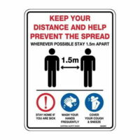 COVID-19 Safety sign Poly- Keep your distance