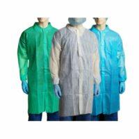Bastion Disposable Polypropylene (PP) Lab Coat 40gsm