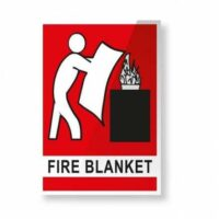 Fire Blanket Sign - Poly