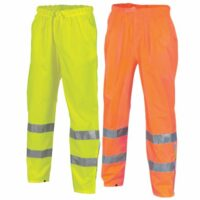 Hivis Breathable Rain Pants With Reflective Tape