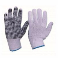 Knitted Poly Cotton Glove with PVC Dots