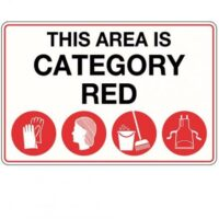 Metal Sign - This Area is Category