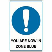 Metal Sign - You Are Now In Zone