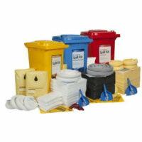 240L Standard Spill Kit in Wheelie Bin