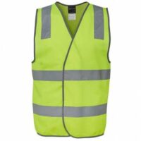 HiVis Day/Night Safety Vests with Tape - Yellow
