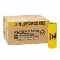 Yellow Clinical Waste Bag 30L - 500 x 600mm CTN/500