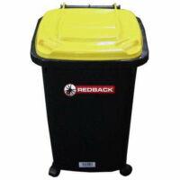 60L Redback Wheelie Bin (Black with Yellow Lid)