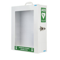Defibrillator Steel Wall Cabinet with Clear Door